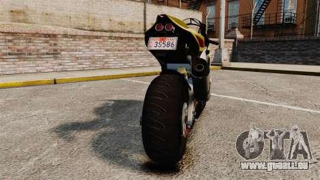 Aprilia RSV4 für GTA 4 Rückansicht
