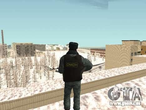 Die OMON riot-Polizisten im winter uniform für GTA San Andreas dritten Screenshot