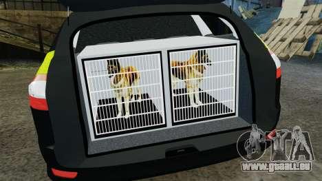 Ford Mondeo Estate Police Dog Unit [ELS] für GTA 4 Seitenansicht