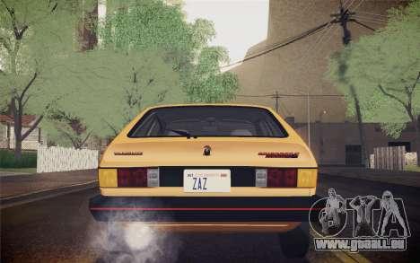 Volkswagen Scirocco S (Typ 53) 1981 IVF für GTA San Andreas Unteransicht