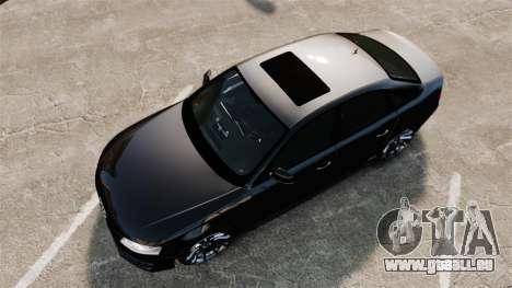 Audi S4 Unmarked Police [ELS] für GTA 4 rechte Ansicht