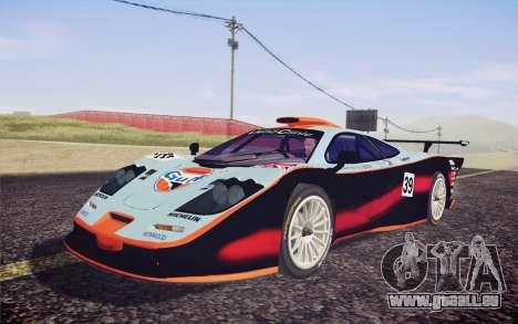 McLaren F1 GTR Longtail 22R pour GTA San Andreas vue de côté