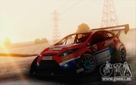 Ford Fiesta Omse HillClimb pour GTA San Andreas vue arrière