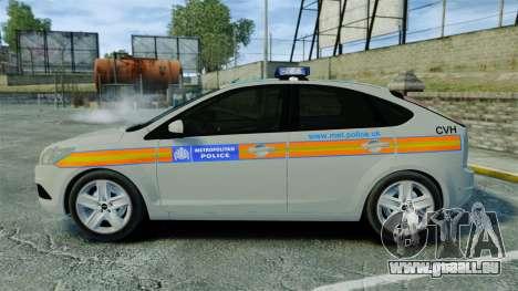 Ford Focus Metropolitan Police [ELS] für GTA 4 linke Ansicht