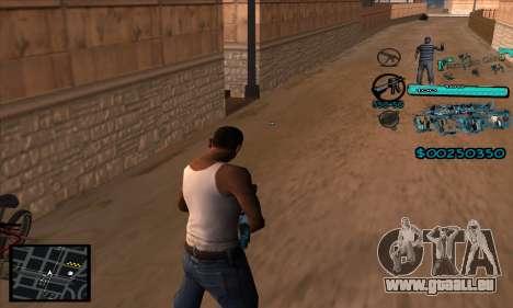 C-HUD Aztecas Gang pour GTA San Andreas deuxième écran