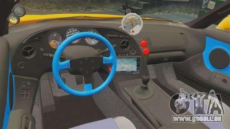 Toyota Supra RZ 1998 (Mark IV) Bomex kit pour GTA 4 est une vue de l'intérieur