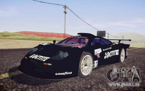 McLaren F1 GTR Longtail 22R pour GTA San Andreas vue de dessus