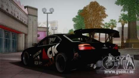 Nissan S15 Street Edition Djarum Black für GTA San Andreas Rückansicht