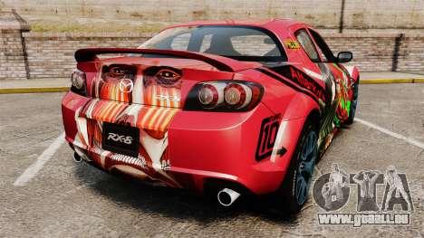 Mazda RX-8 R3 2011 pour GTA 4 Vue arrière de la gauche