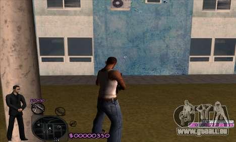 C-HUD Woozie pour GTA San Andreas deuxième écran