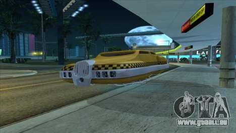 Taxi 5 Element pour GTA San Andreas sur la vue arrière gauche