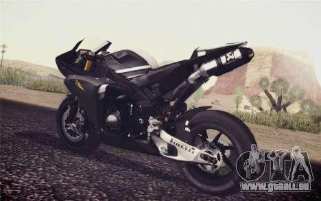 Yamaha YZF R1 2012 Black pour GTA San Andreas laissé vue