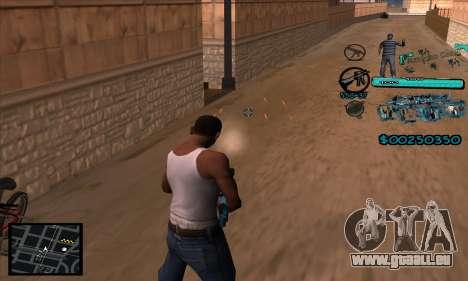 C-HUD Aztecas Gang pour GTA San Andreas quatrième écran