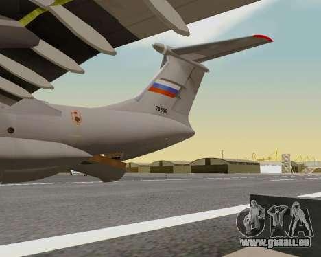 Il-76md-90 (IL-476) pour GTA San Andreas vue de dessus