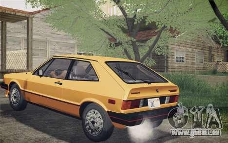 Volkswagen Scirocco S (Typ 53) 1981 IVF für GTA San Andreas zurück linke Ansicht
