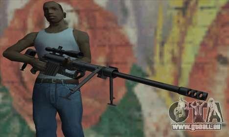 Black M200 Intervention pour GTA San Andreas troisième écran