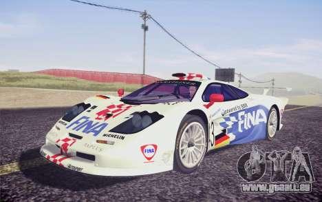 McLaren F1 GTR Longtail 22R pour GTA San Andreas vue arrière