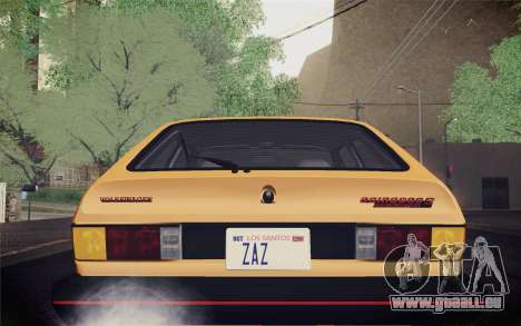 Volkswagen Scirocco S (Typ 53) 1981 IVF für GTA San Andreas obere Ansicht