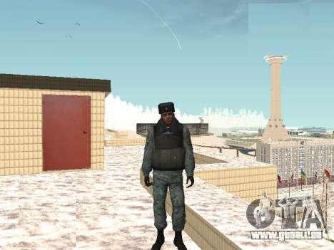 Die OMON riot-Polizisten im winter uniform für GTA San Andreas zweiten Screenshot