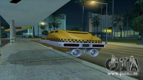 Taxi 5 Element pour GTA San Andreas vue arrière