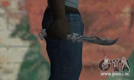 Chinese knife pour GTA San Andreas troisième écran