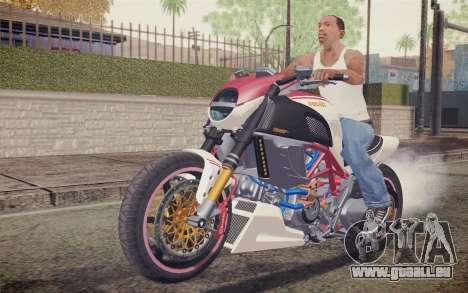 Ducati Diavel Carbon 2011 pour GTA San Andreas laissé vue