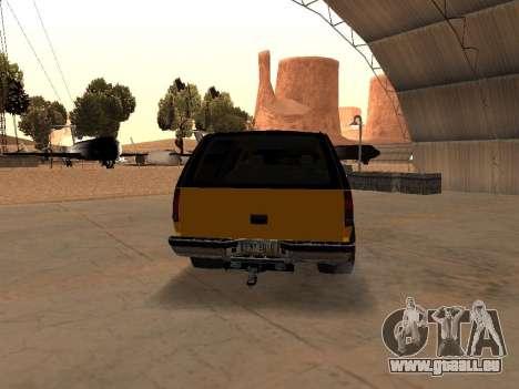 GMC Yukon pour GTA San Andreas vue de droite