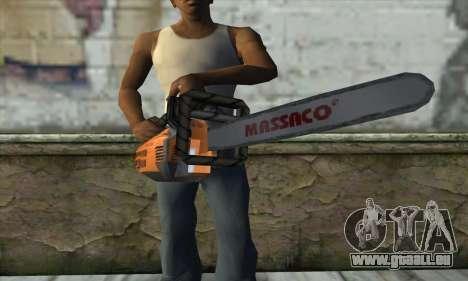 Tronçonneuse pour GTA San Andreas troisième écran