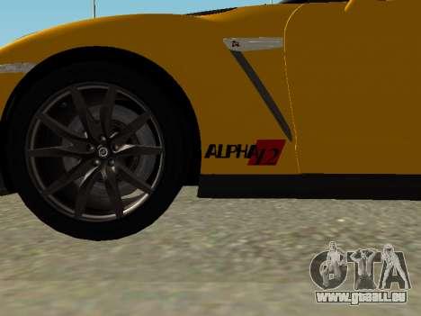 Nissan GT-R AMS Alpha 12 für GTA San Andreas zurück linke Ansicht