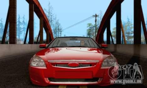 LADA 2170 pour GTA San Andreas laissé vue