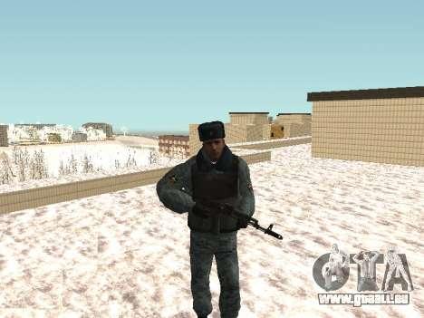 Die OMON riot-Polizisten im winter uniform für GTA San Andreas