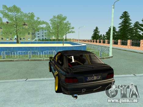 BMW M3 E36 Compact Darius Kepezinskas pour GTA San Andreas vue de droite