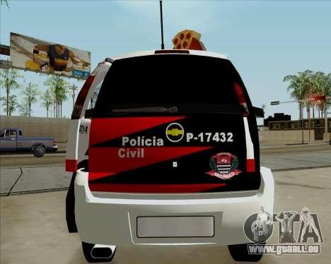 Chevrolet Meriva pour GTA San Andreas vue de droite