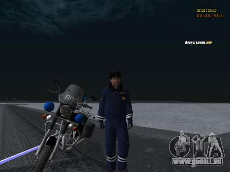 Pak DPS dans un format de l'hiver pour GTA San Andreas neuvième écran