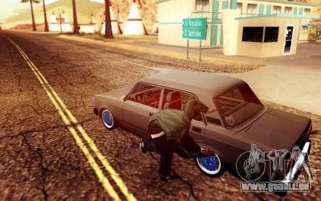 VAZ 2105 Stance pour GTA San Andreas sur la vue arrière gauche