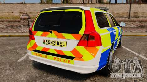 Volvo V70 South Wales Police [ELS] pour GTA 4 Vue arrière de la gauche