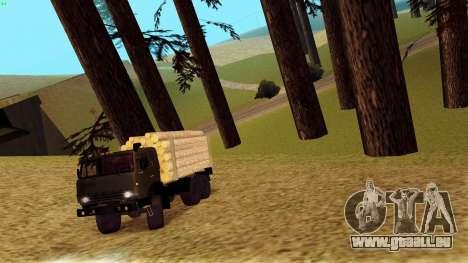 Kamaz 4310 Brevnova für GTA San Andreas Seitenansicht