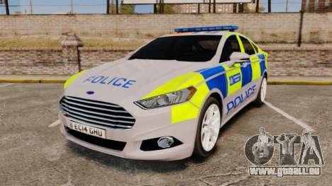 Ford Mondeo 2014 Metropolitan Police [ELS] für GTA 4