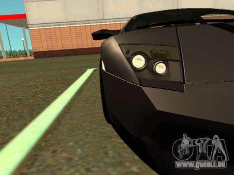 Lamborghini Murcielago LP670-4 SV Team Ravenwest für GTA San Andreas zurück linke Ansicht