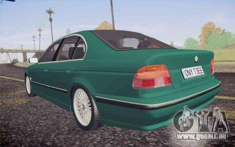 BMW M5 E39 528i Greenoxford pour GTA San Andreas vue intérieure