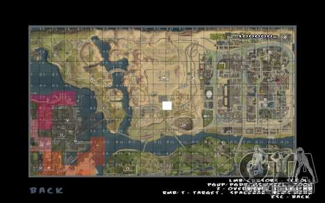 Rapid opening map für GTA San Andreas zweiten Screenshot