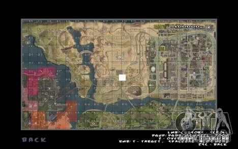 Rapid opening map pour GTA San Andreas deuxième écran