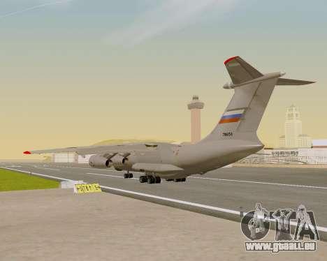 Il-76md-90 (IL-476) pour GTA San Andreas vue intérieure