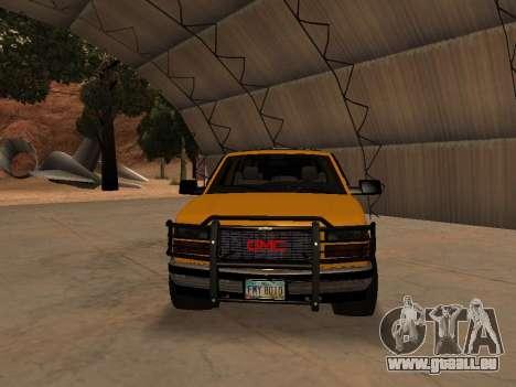 GMC Yukon pour GTA San Andreas laissé vue