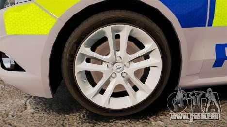 Ford Mondeo 2014 Metropolitan Police [ELS] für GTA 4 Rückansicht
