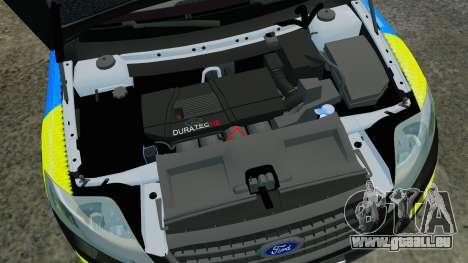 Ford Mondeo Estate Police Dog Unit [ELS] pour GTA 4 est une vue de l'intérieur