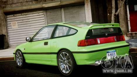 Honda CR-X pour GTA 4 est une gauche