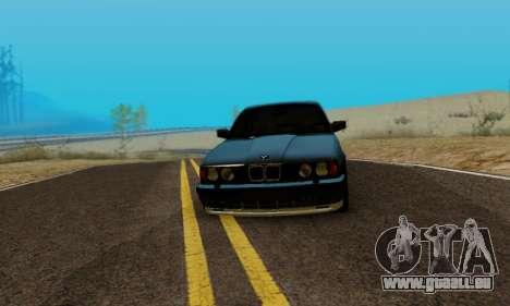 BMW M5 E34 1992 pour GTA San Andreas sur la vue arrière gauche