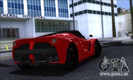 Ferrari LaFerrari v1.0 pour GTA San Andreas sur la vue arrière gauche