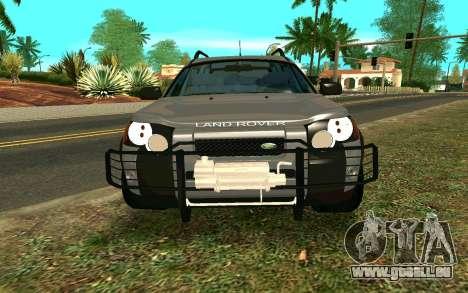 Land Rover Freelander für GTA San Andreas Innenansicht